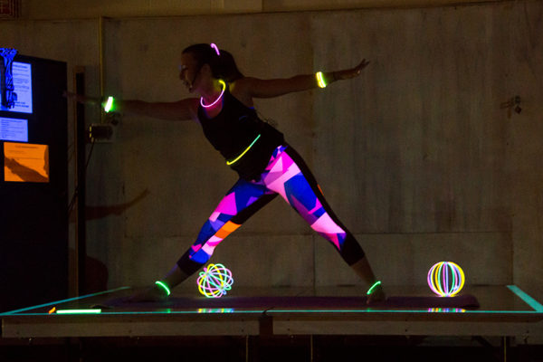 Glow-in-the-dark series group fitness instructor