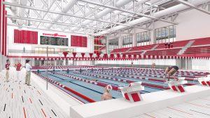A digital rendering of the new Nicholas Recreation Center aquatic center.