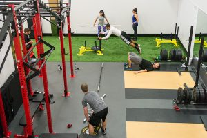 People working out in the Performance Training Center