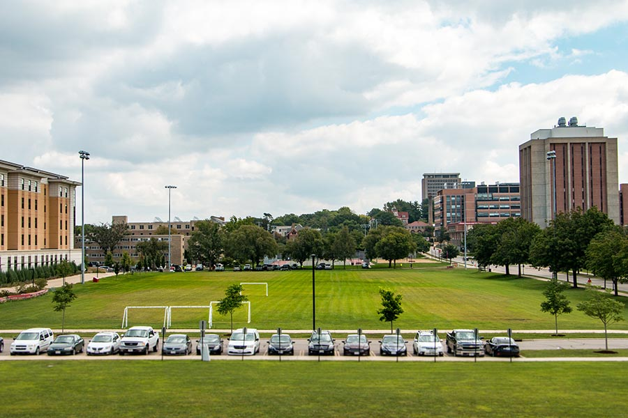 Photo of the Near East outdoor soccer fields
