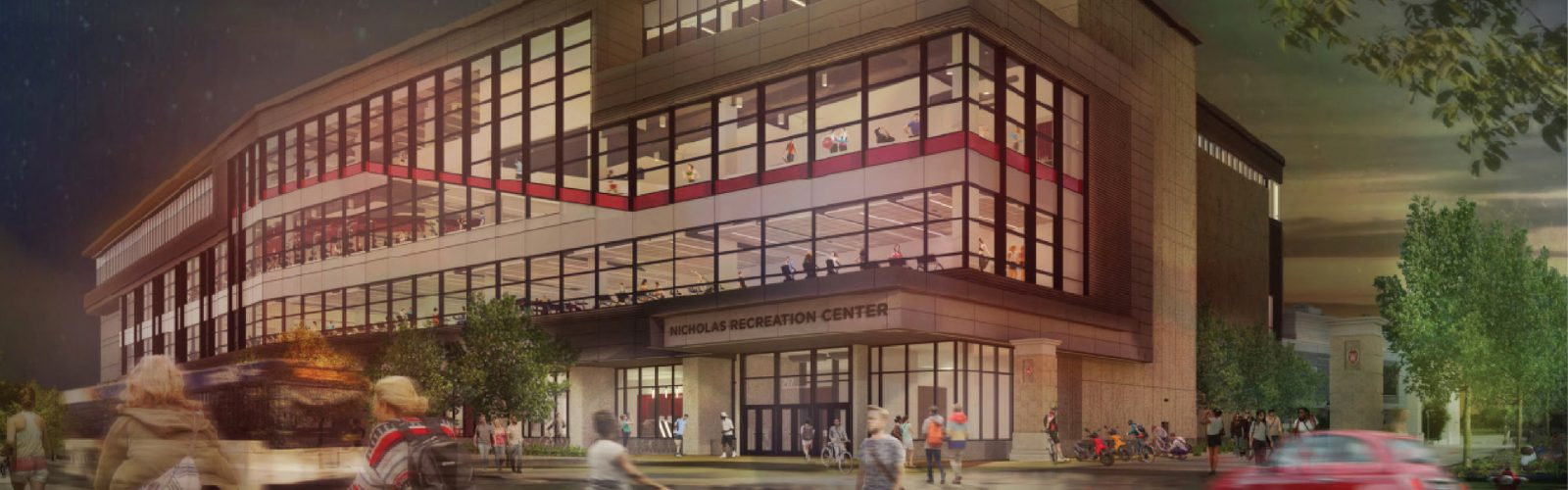 A digital rendering of the Nicholas Recreation Center