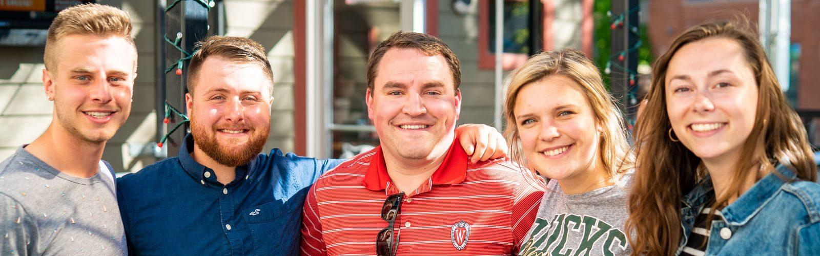 color photo of interns and chad schultz, program supervisor