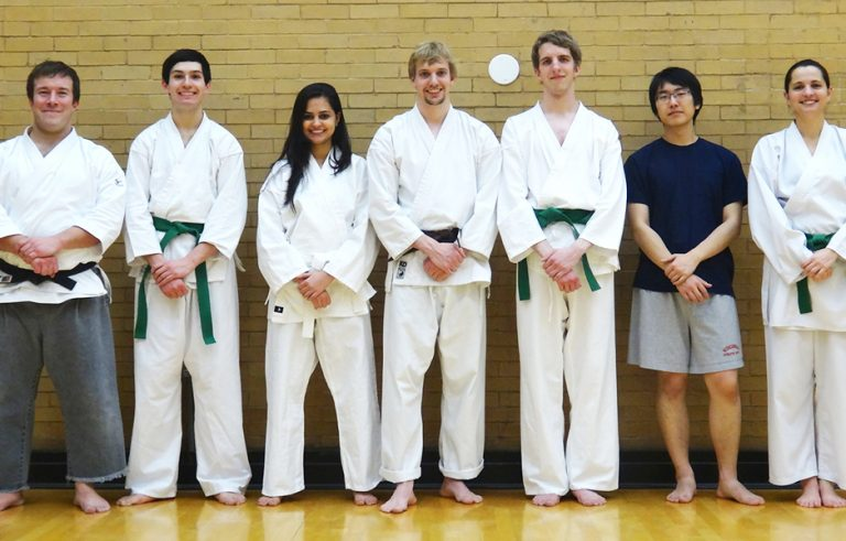 Photo of Shorin Ryu Karate team standing together