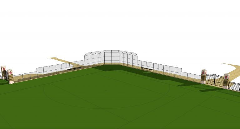 Digital rendering of the view from centerfield of the Near West field