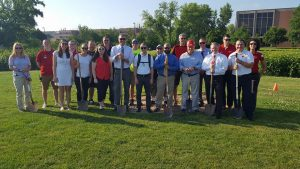 Photo of 20 Rec Well staff holding shovels at Near West groundbreaking.