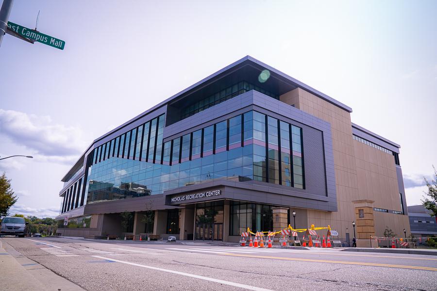 An exterior photo of the Nicholas Recreation Center