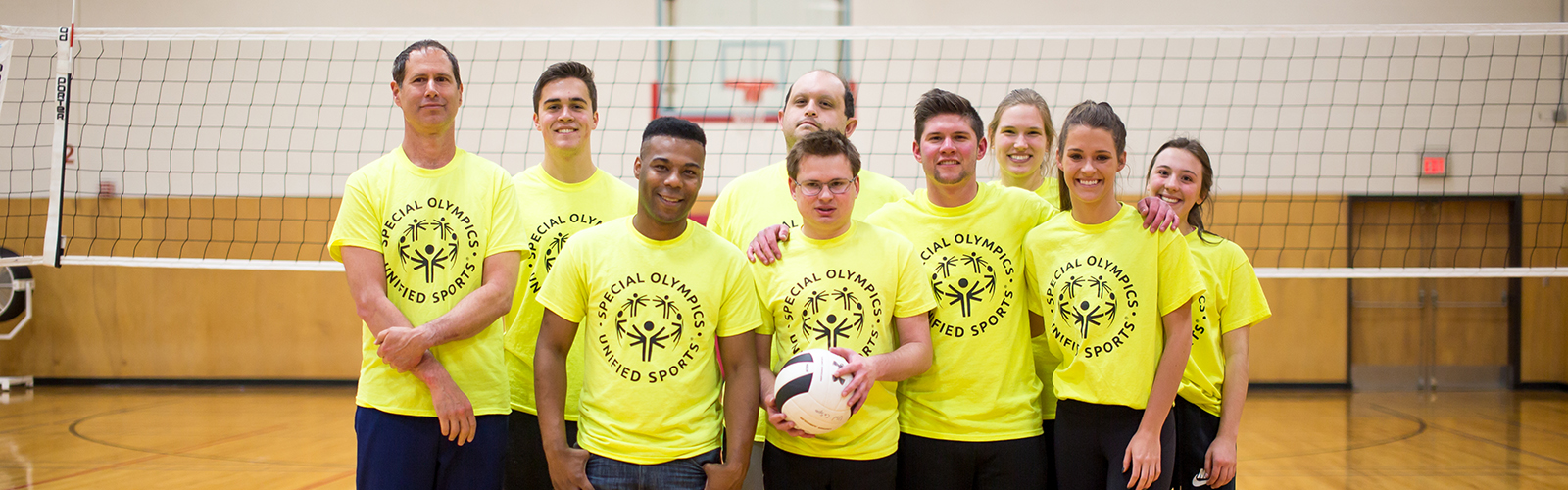 A photo of a Unified Volleyball team