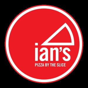 A photo of the Ian's Pizza logo