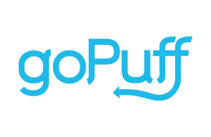 An image of a blue logo for goPuff