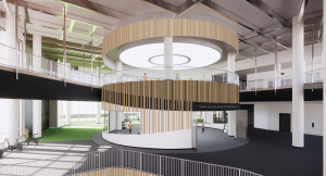 Virtual rendering of the new Natatorium round studio