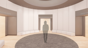 Virtual rendering of the new Natatorium Wellbeing suite