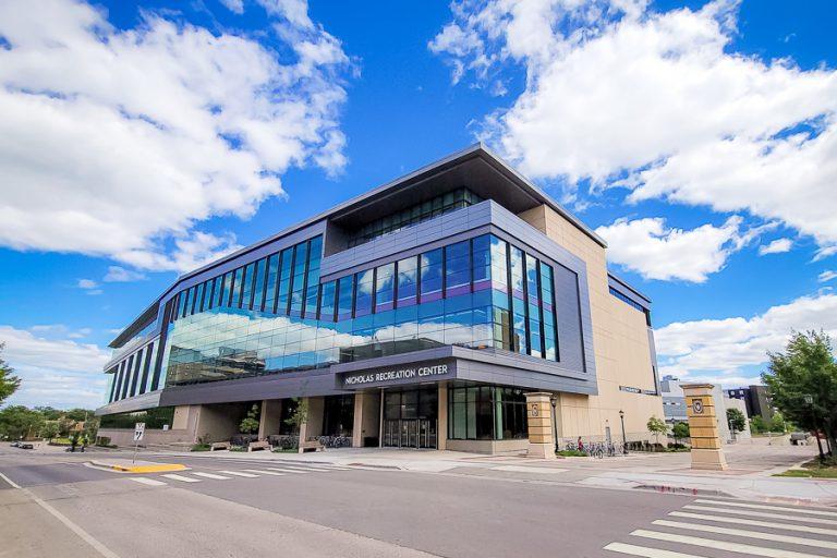 An exterior image of the Nicholas Recreation Center