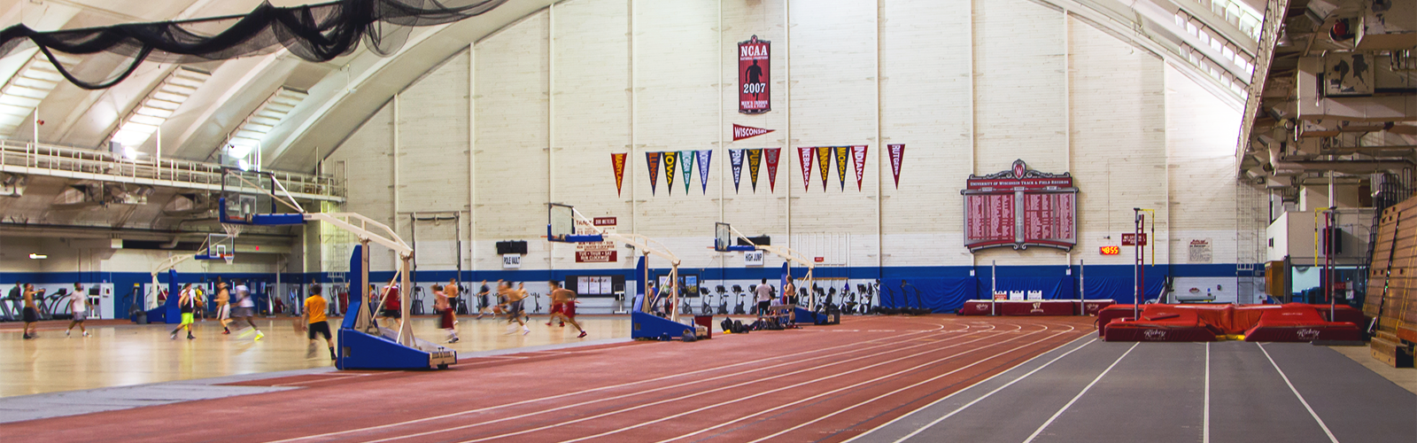 An image of the interior of the Camp Randall Sports Center.